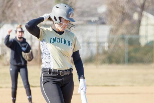 An Indian River Softball player at bat at a practice. This year's team is young, but with some strong leaders, according to new coach Sam O'Shields.