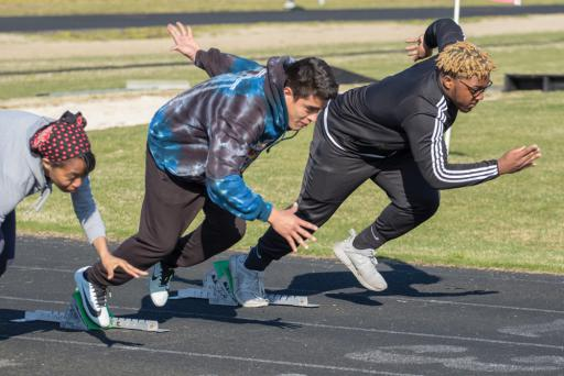Track-and-field practice was held for Indian River High School on Tuesday, March 19.