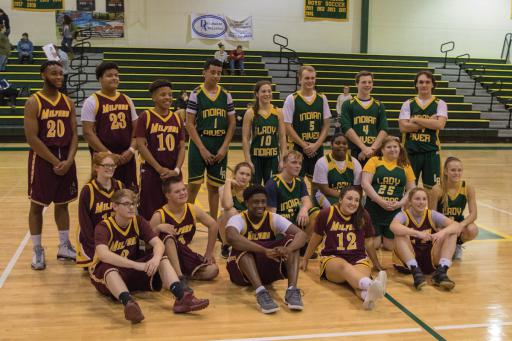 Indian River hosted a Unified Basketball game on Tuesday, Jan. 8. Milford traveled to IR for its first ever Unified Basketball game. Special Olympics Unified Champion Schools uses sports as a way to build inclusion and tolerance in schools.