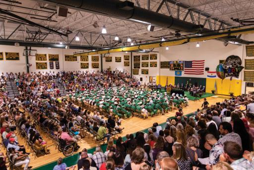 The Indian River High School Class of 2019 enjoys their graduation ceremony on Wednesday, May 29.