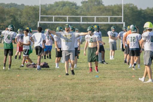 Indian River's football team was among the teams gearing up for the fall season. Chief among its concerns is replacing their starting quarterback, who suffered an injury during the baseball season.