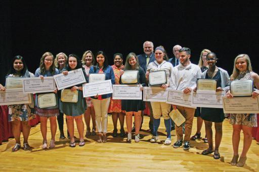 The Indian River School District awarded scholarships to nine graduating seniors who have agreed to come back and teach in the District after graduating college.