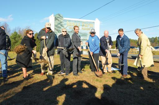 James Farm upgrades were set to officially begin on Nov. 26 but kicked off with a groundbreaking on Nov. 16.