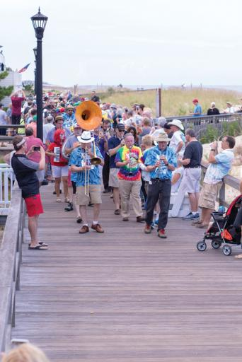 The annual Jazz Funeral is an end-of-season tradition in Bethany Beach