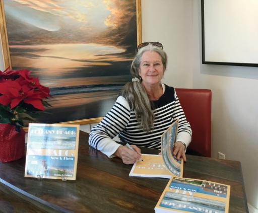 Artist and author Joanne Guilfoil will introduce her new book, 'Bethany Beach ABCs Now and Then' with a book signing at the Ellen Rice Gallery in Ocean View this Saturday.