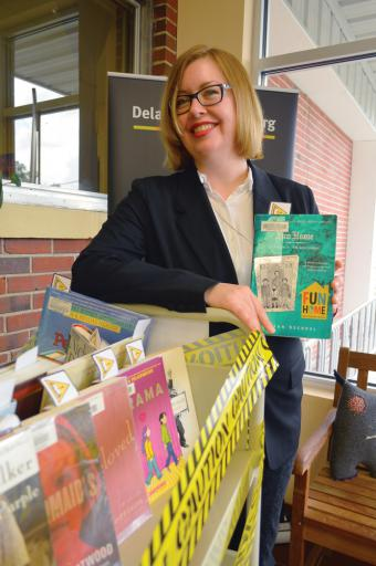 Liz Berntsen returns to the Frankford Public Library as the new adult-services coordinator.