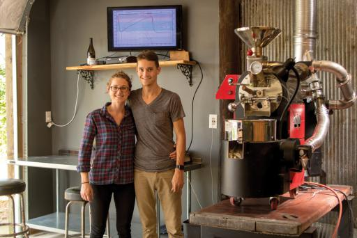 Jenni and Tyler Valliant are the couple behind Local Coffee Roasting Co.