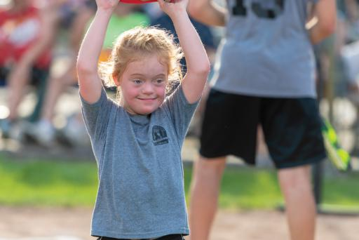 Lower Sussex Little League District 3 Challenger Division particpants enjoyed a game of ­baseball during the Senior League Softball World Series in Roxana on Thursday, Aug. 2. The Shorebirds' Sherman was on hand to cheer on the children as they played.