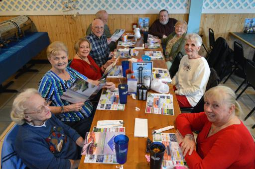 About 12 to 20 people usually attend the Lunch Bunch, a casual social group that is inviting more people to join their Thursday get-togethers.