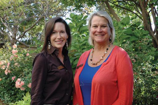 Incoming Beebe Medical Foundation Board members include Lyndie Hertrich, left, and Ann Raskauskas.