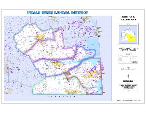 Indian River School District is split into five voting districts. Districts 4 and 5 have contested elections in 2019.