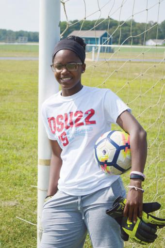 After coming across disappointment in her situation at Delaware state, Fabrea McCray has found her stride again in the soccer pitch for the DSU Hornets.