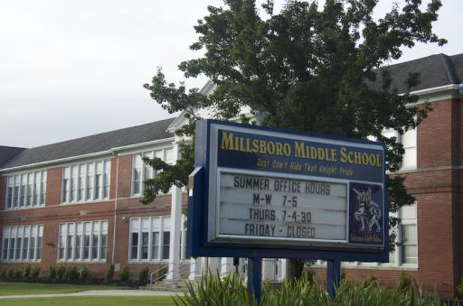 Millsboro Middle School is one of many schools scrambling to carve classrooms from other existing spaces, including the library.