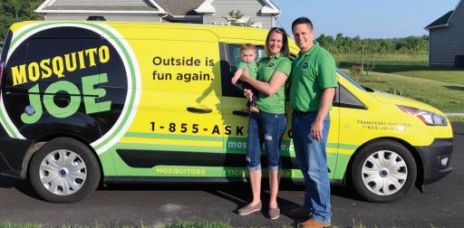 Christina and Mark Wallisch, along with son Blake, are the new owners of a Mosquito Joe insect control franchise.
