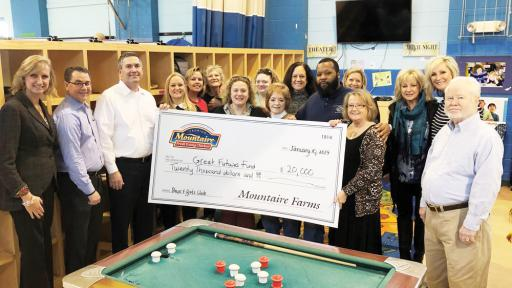 Mountaire Executives tour the Oak Orchard/Riverdale Boys & Girls Club on Thursday, Jan. 10, and presented their $20,000 donation to the Oak Orchard/Riverdale Boys & Girls Club.