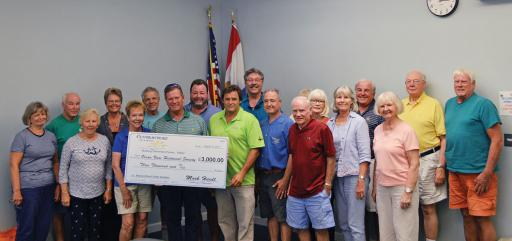 Contractors for a Cause recently donated $3,000 to the Ocean View Historical Society.