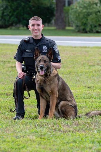 Ocean View Police Cpl. Justin Hopkins and K-9 Hardy will both attend Ales for Tails — a fundraiser aiming to provide K-9 officers throughout the state with life-saving first aid training for their four-legged partners.