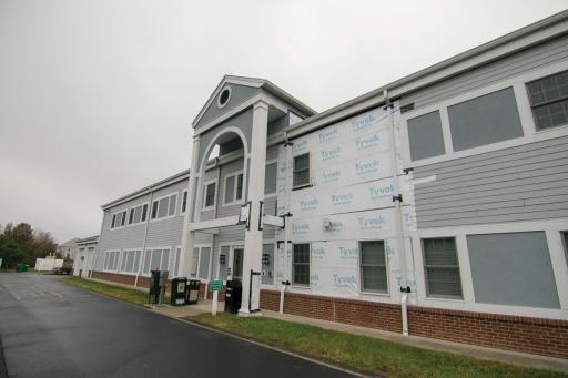 Ocean View is paying to repair damage, and to remove and replace siding, on the Wallace A. Melson Municipal Building.