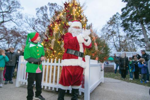 Santa Claus and a capable helper elf made an appearance at Ocean View's Old Town Holiday Market & Tree Lighting Event on Saturday, Nov. 30.