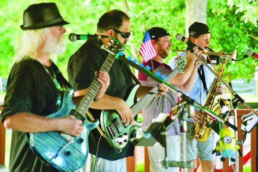Over Time band performs at John West Park in Ocean View back in 2017.