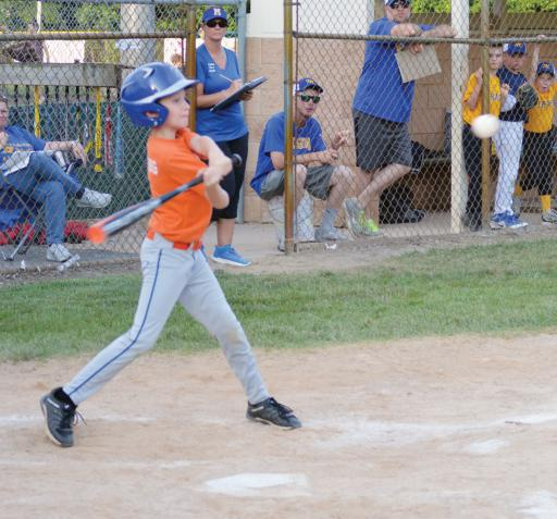 A batter swings at a pitch during the Lower Sussex League's Pat Knight Tournament on Friday, June 29.