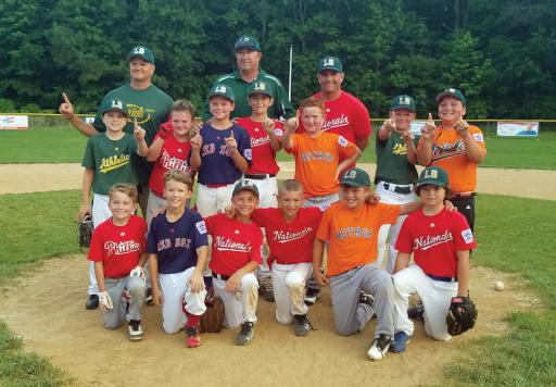 The 8-10 boys' baseball team took home the Pat Knight title, winning five straight after a loss to Milton.