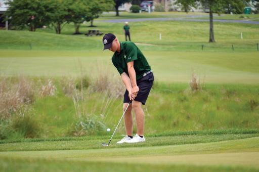 IR's Patrick Gogarty takes a shot during the DIAA State Golf Championships at Cripple Creek Golf & Country Club.