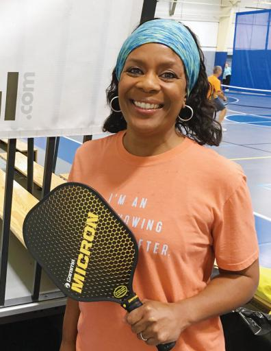 Lasaundra Dorsey of Hagerstown, Md., was among the participants in the Spring Pickleball Tournament at Northside Park in Ocean City, Md.