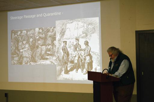 Archaeologist John McCarthy describes historical attempts to protect the population from yellow fever, cholera and smallpox.