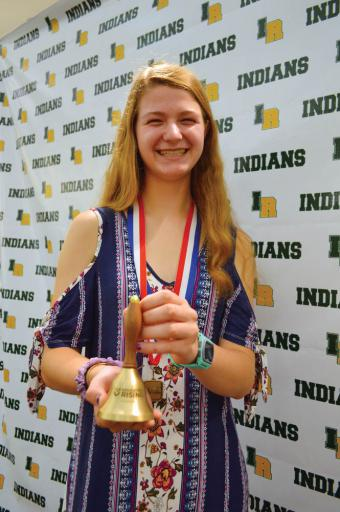 As top scorer in her event, Riley Murray earned the Gold Bell and a trip to the Educators Rising National Conference in Dallas.