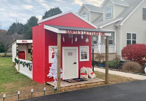 The Santa's Letters mailbox is up at the Malones' home in Dagbsoro. This year there are additional mailboxes at Myriad Toys &Gifts in Dagsboro, Vogue Salon in Fenwick Island and the Selbyville Public Library.