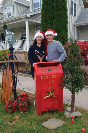 Sean and Kristina Malone have set up a mailbox for Santa and responds to every letter. The mailbox is located at 2 Windward Way in the Cripple Creek Golf & Country Club in Dagsboro.