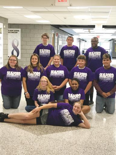 Seaford High School students spent three days this summer training to be Botvin LifeSkills Training Peer Mentors to Seaford Middle School students for the upcoming school year.