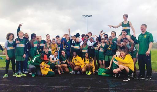 The Selbyville Middle School track team poses for a photo.