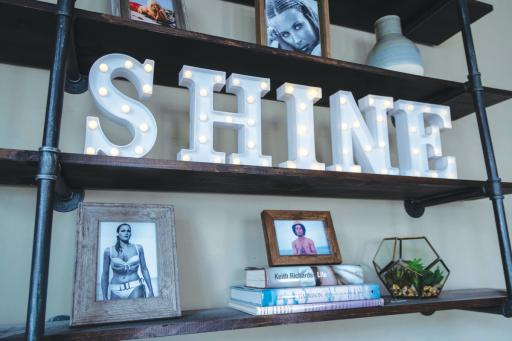More than a bit of inspiration decorates the walls of Shine by the Sea in their new location in Ocean View.