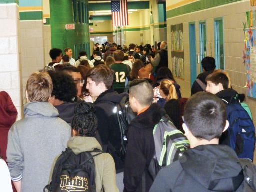 Packed hallways at Selbyville Middle School are the norm, according to school district officials.