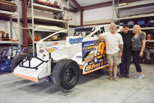 Breaking with a traditional racing path, Matt Smith (middle) began racing six years ago, starting out in crate car racing.
