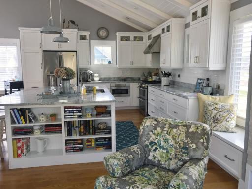 The renovated gourmet kitchen in this house is designed to be a cook's dream. The home, and nine more, will be featured in the 28th Annual Beach & Bay Cottage Tour on July 24 and 25.