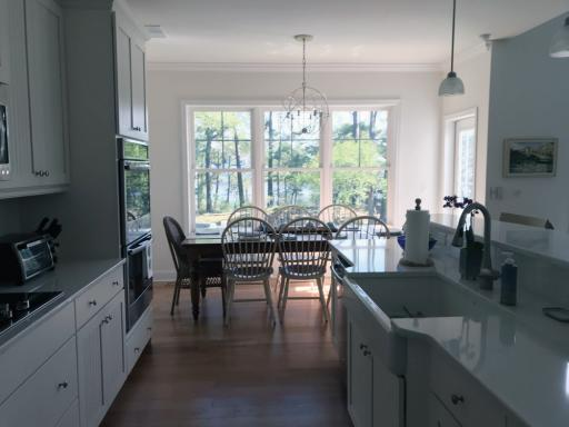 Natural views are visible from the kitchen and beyond in this Bethany Beach home, which will be featured on the annual Beach & Bay Cottage Tour on July 24-25.
