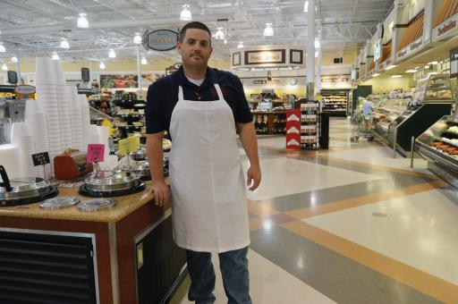 Ryan Parrill, the supervisor of Hocker's soups and prepared foods department, preaches the 'keep it simple' mantra.
