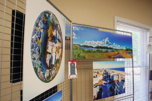 South Bethany Town Hall will serve as an art gallery for the next three weeks.