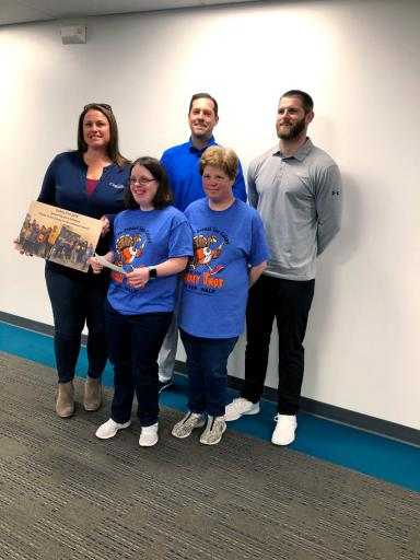 Sussex Riptide representatives present a plaque to Sea Colony representatives, in appreciation of their support of the Special Olympics team. Pictured are: Jen Neal, Cathy Arancio, Mike Pitts, Suzie Schaible and Sean Lewis.
