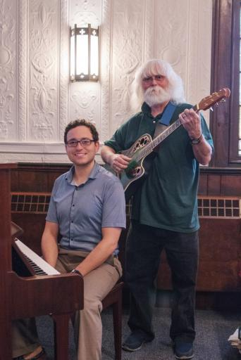 St. George's UMC is ready to build a new music program of singers and musicians, led by longtime teachers Eric Tsavdar (left) and his stepfather, Mark Marvel.