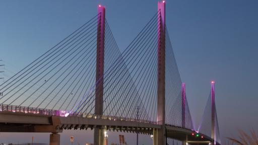 The Delaware Department of Transportation recently lit the Indian River Inlet Bridge pink to honor October being Breast Cancer Awareness Month. DelDOT also did the same for the two toll plazas on Route 1.
