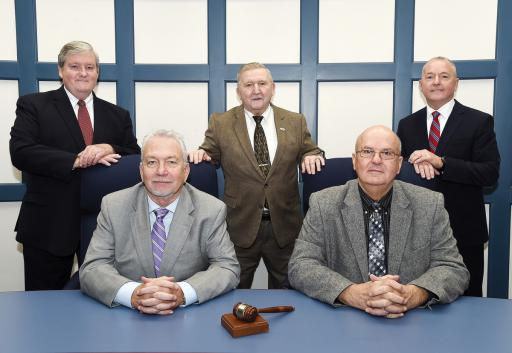 Ladies and gentlemen, your new Sussex County Council. Top row, from left, John Rieley, Sam Vincent and Doug Hudson. Bottom, from left, I.G. Burton III and Michael Vincent.