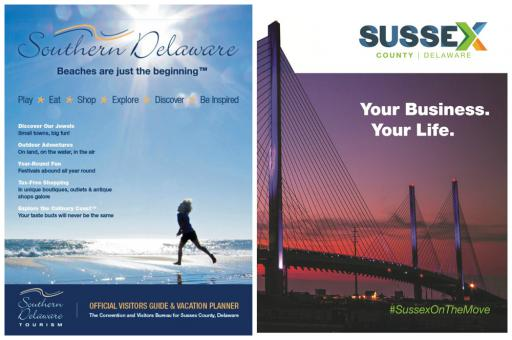 Southern Delaware Tourism's new Visitors Guide includes a Sussex County Economic Development insert.