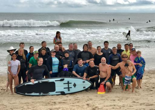 Team Surfgimp gathers at the north side of the Indian River Inlet on Sunday, Oct. 15.