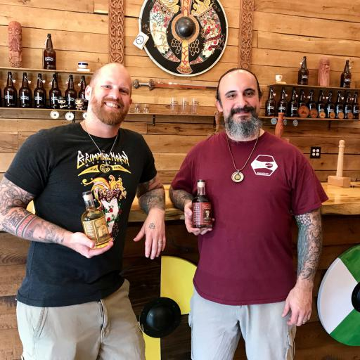 JR Walker and Jon Talkington, owners of The Brimming Horn Meadery in Lewes.