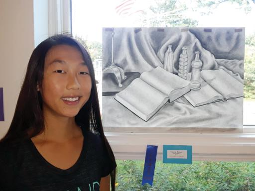 The South Coastal Library recently announced the winners of its annual Teen Art Show. Winners including Senior Division, first-place winner Victoria Rentsch with her charcoal drawing, 'Empty Pages.'