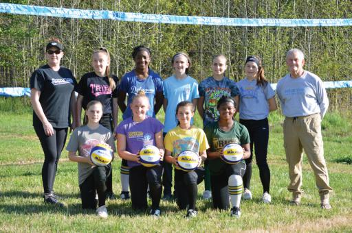Pyle Center is home of a new outdoor, grass volleyball court to promote the sport.